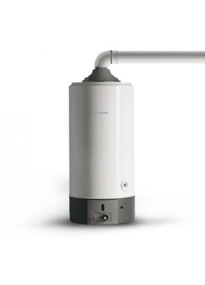 Scaldabagno A Gas  Da Pavimento Ad Accumulo Ariston S/Sga 200 Cs Eu Completo Di Kit Fumi Metano - New Erp