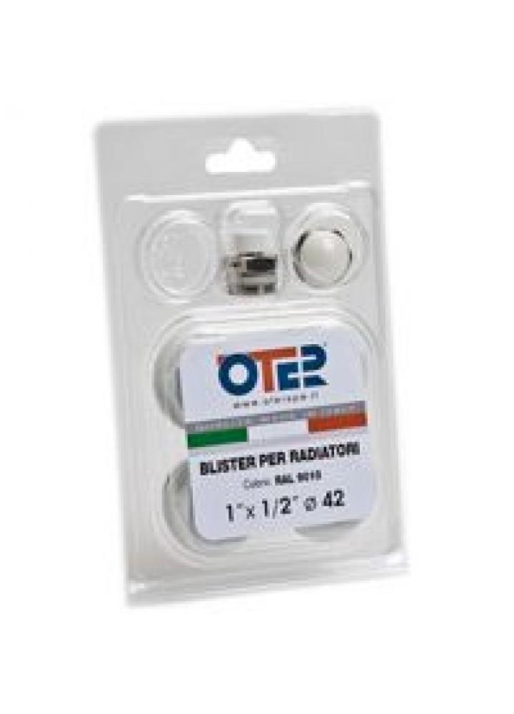 Oter - Kit Tappi Verniciati In Blister Per Radiatori In Alluminio