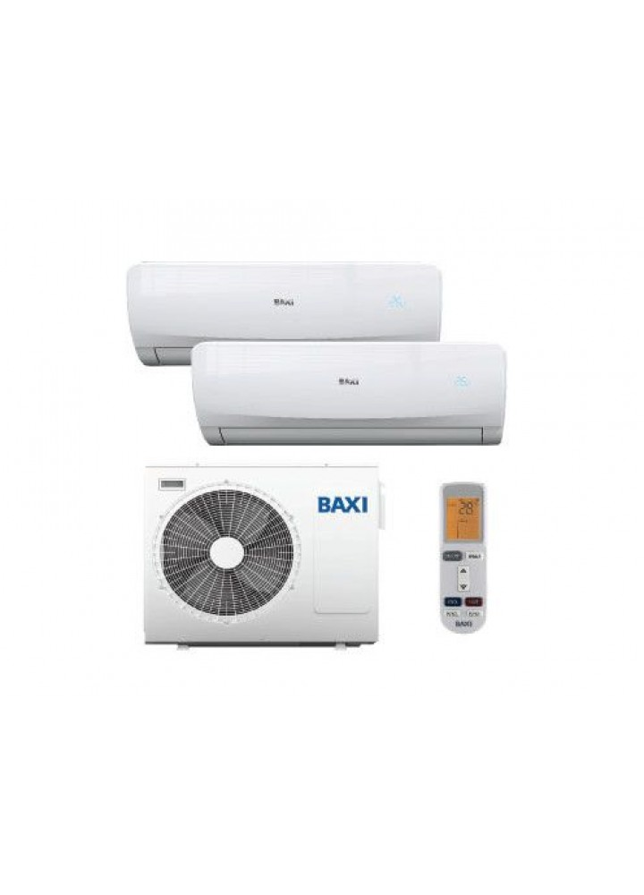 Baxi Climatizzatore Condizionatore Baxi Dual Split Inverter Luna Clima 3 12000+12000 Con Lst50-2m