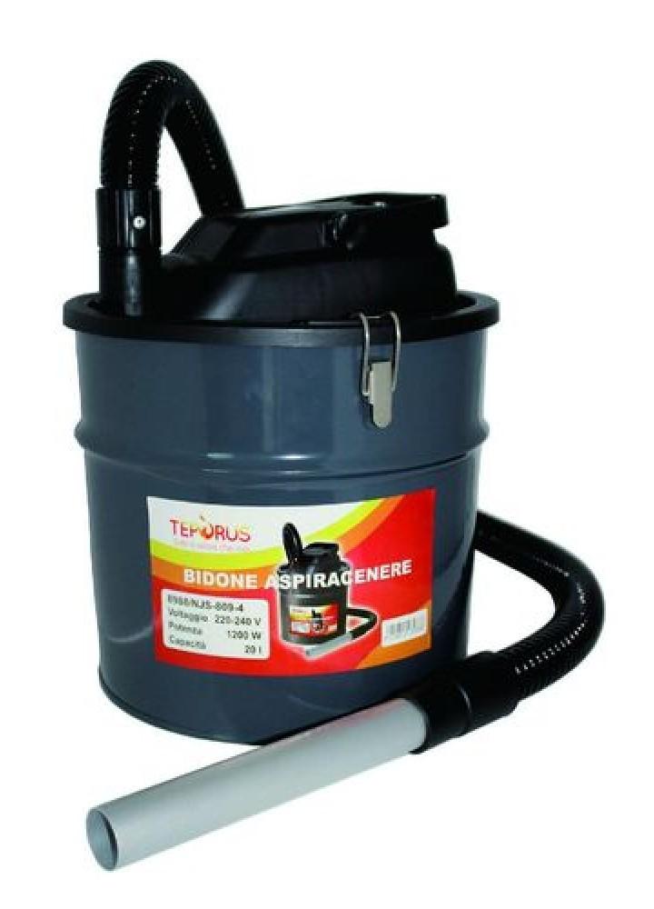Bidone Aspiracenere Aspirapolvere Teporus Mod. Fuocovivo 20 Lt 1200 W