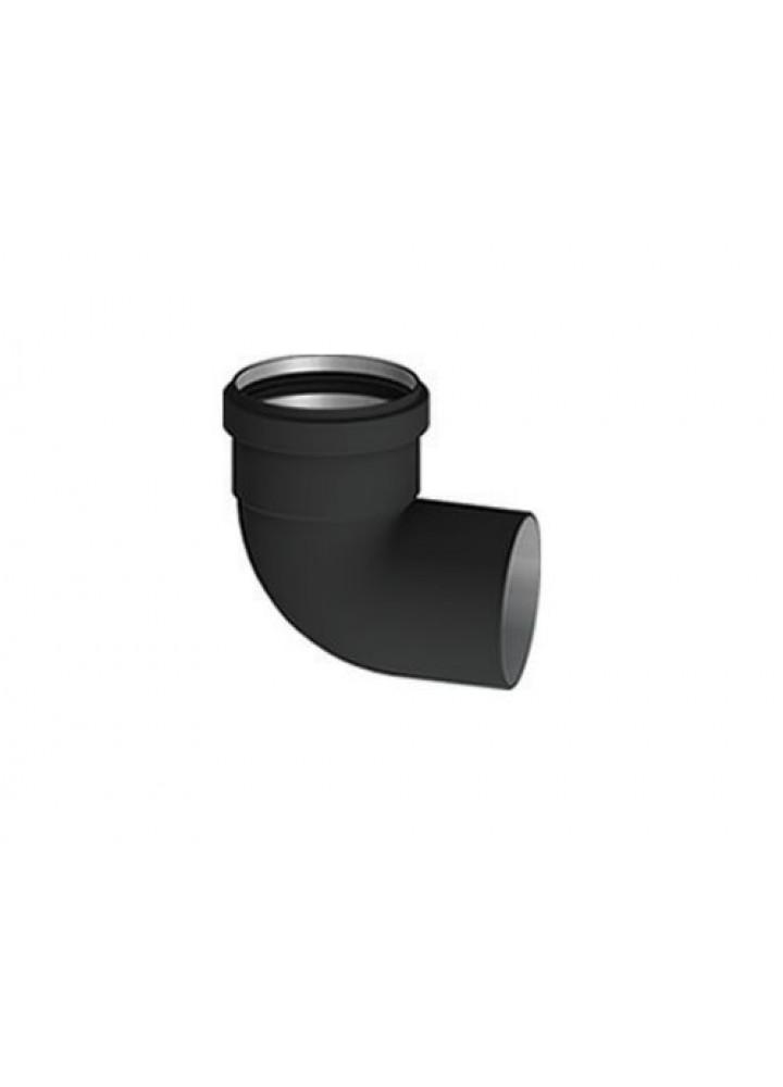 Curva 90° Ff diametro 80 In Alluminio Nero - Stabile