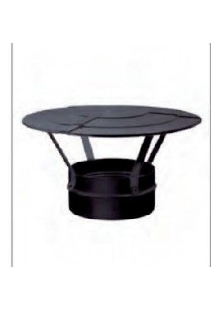 Cappello Cinese diametro 80 Mod. Black Fire In Acciaio Al Carbonio Porcellanato Nero - Wierer