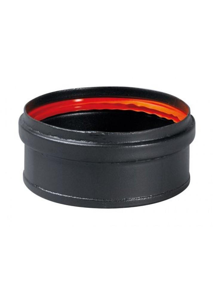Tappo Scarico Condensa Cieco diametro 80 Mod. Black Fire In Acciaio Al Carbonio Porcellanato Nero - Wierer