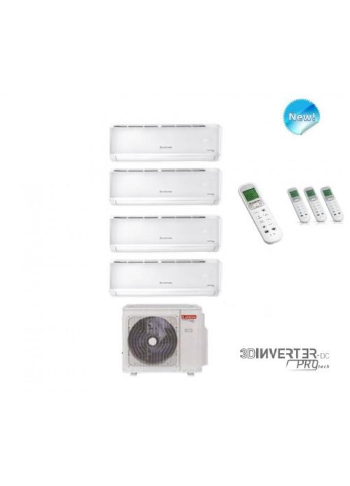 Climatizzatore Condizionatore Ariston Quadri Split Inverter Alys Plus 9+9+9+12 Btu Con Quad 110 Xd0b-O - New