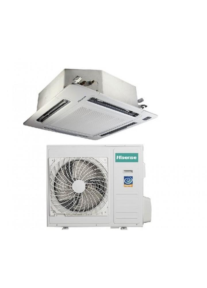 Climatizzatore Condizionatore Hisense Cassetta Inverter 36000 Btu Con Pannello Auc-36ur4sea1 36000 Btu Con Pannello