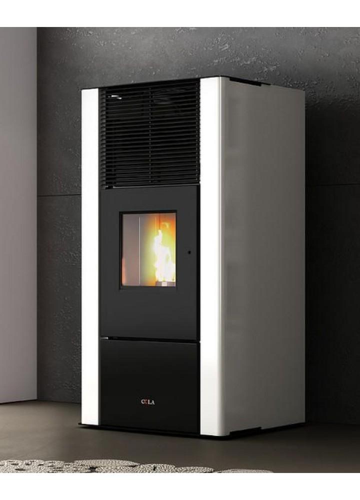 Termostufa A Pellet Cola G.Ppo Ferroli Mod. Energyca 30s Kw 28 Vari Colori Disponibili Con Acs