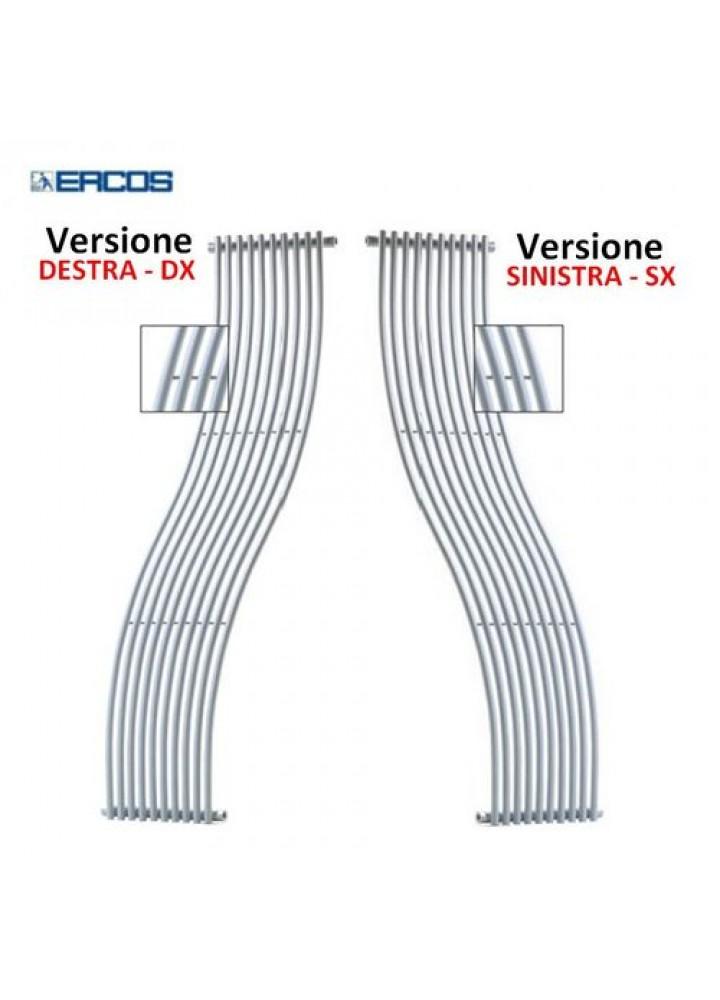 Termoarredo Scaldasalviette Ercos Curvo Design Cassiopea Bianco 2 Modelli Versione Sinistra E Destra