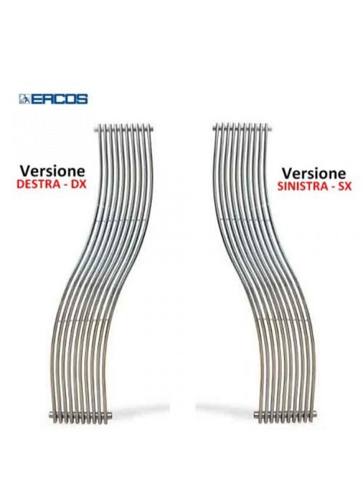 Termoarredo Scaldasalviette Ercos Curvo Design Cassiopea Cromato 2 Modelli Versione Sinistra E Destra