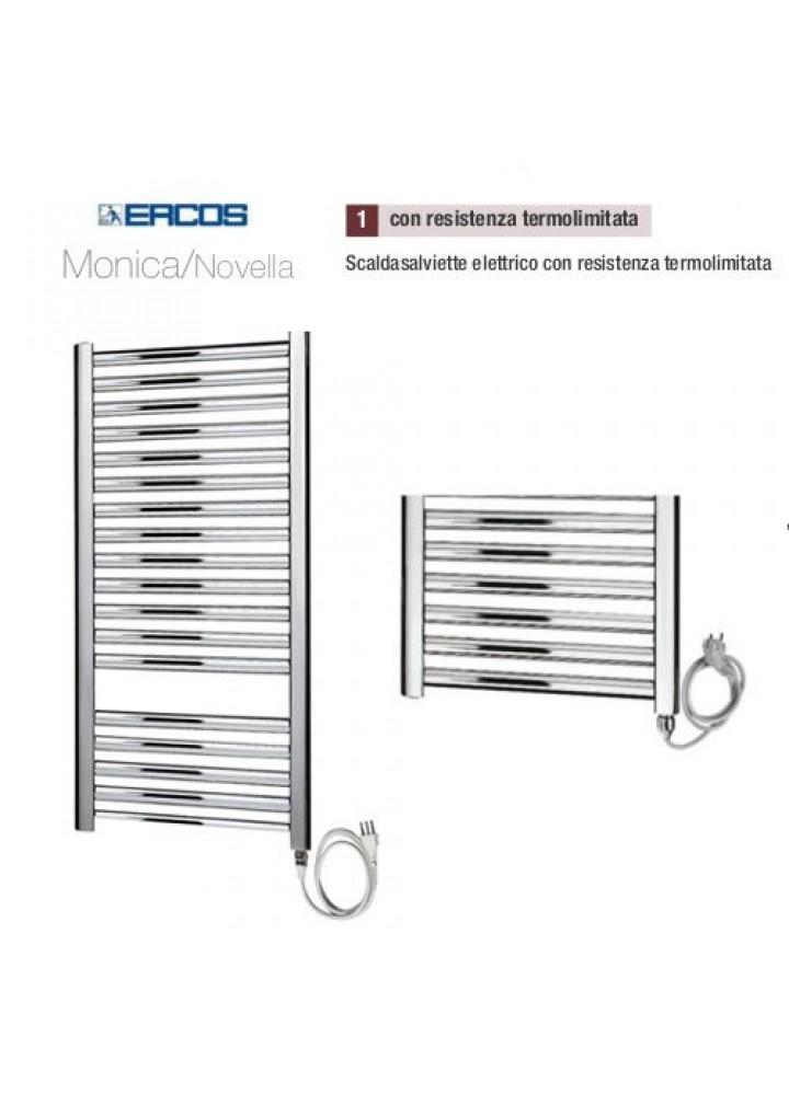 Termoarredo Scaldasalviette Ercos Monica/Novella Cromato Elettrico Con Resistenza Termolimitata 4 Modelli