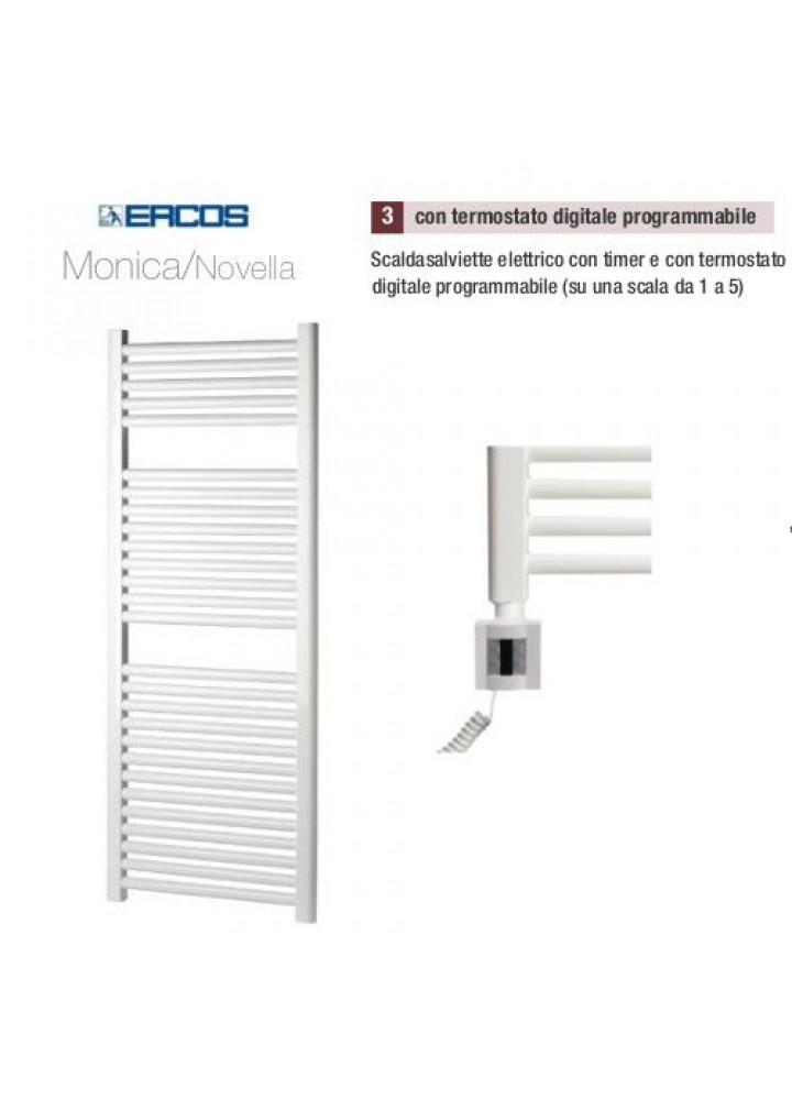 Termoarredo Scaldasalviette Ercos Monica/Novella Elettrico Con Termostato Digitale Programmabile 8 Modelli
