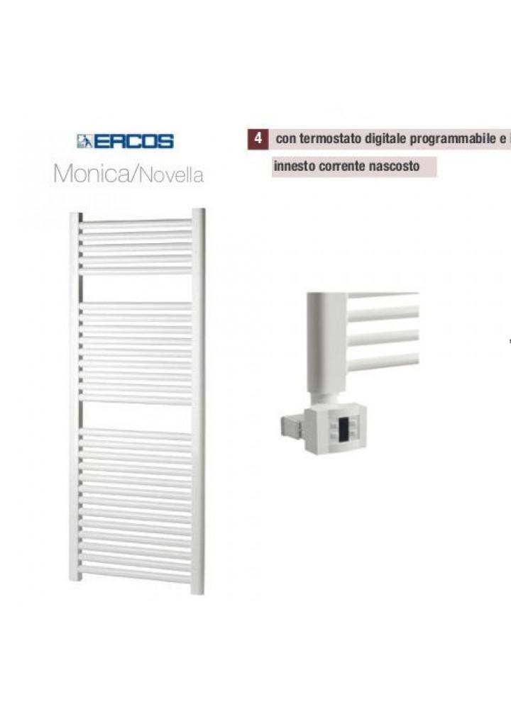 Termoarredo Scaldasalviette Ercos Monica/Novella Elettrico Con Termostato Digitale E Sistema Copricavo 8 Modelli