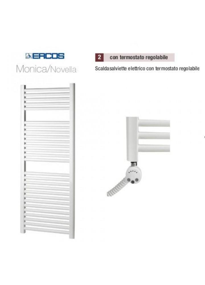 Termoarredo Scaldasalviette Ercos Monica/Novella Elettrico Con Termostato Regolabile 8 Modelli