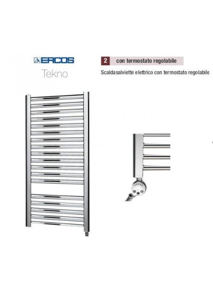 Termoarredo Scaldasalviette Ercos Tekno Cromato Elettrico Con Termostato Digitale Regolabile 4 Modelli
